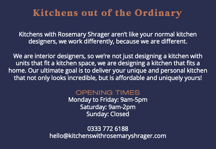 kitchens with rosemary shrager out of the ordinary opening times